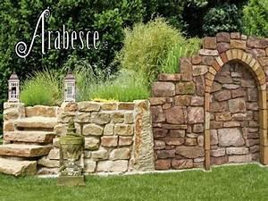 naturstein garten trockenmauer hochbeet rasenkante antike With französischer balkon mit steine für den garten kaufen