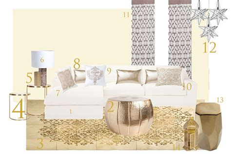 canapé d angle en cuir noir salon blanc et or r fab