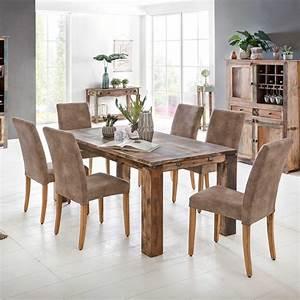 Esstisch Massivholz Günstig : esstisch largo 220 320cm aus massivholz im vintage look ~ Watch28wear.com Haus und Dekorationen