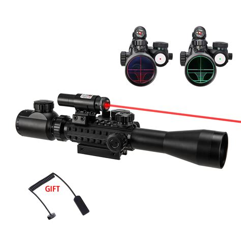 pinty 3 9x40eg rangefinder mil dot reticle riflescope laser sight and dot sight walmart