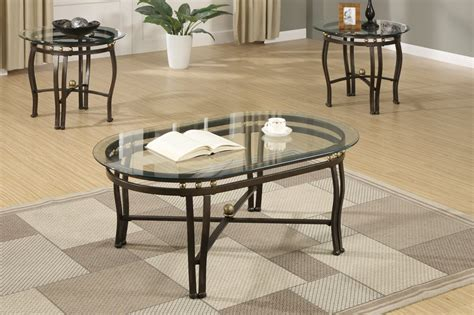 Black Glass Coffee Table Set