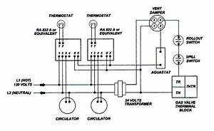 wiring residential gas heating units With thermostat wiring diagram on 120 volt thermostat wiring diagramparallel and series circuits
