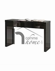 Console Murale Design : console murale design noir laqu stood 2 ~ Teatrodelosmanantiales.com Idées de Décoration