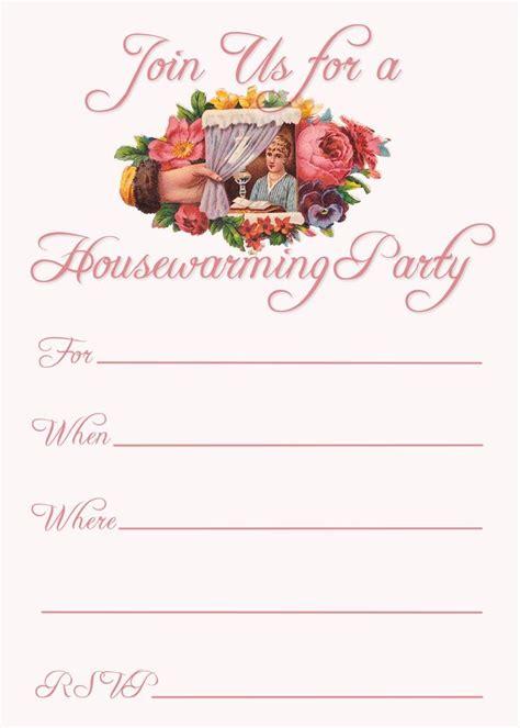 invitation cards templates for housewarming free printable house warming invitation