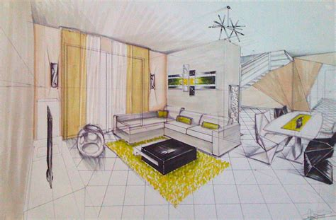 dessins d interieur de maisons en perspective anabelle