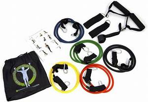 Resistance Bands Set With Ankle Strap Hand Grips Starter