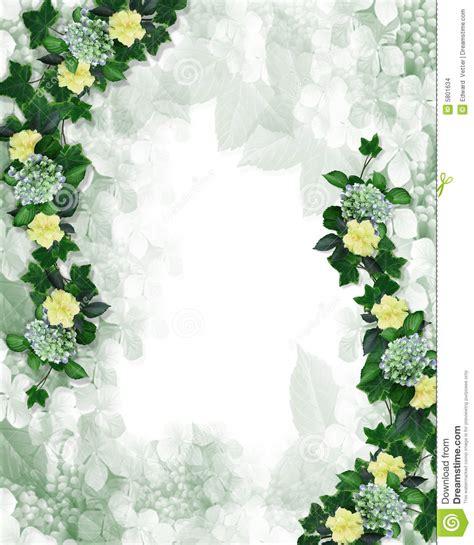 floral border design invitation element stock images