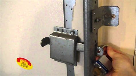 how to lock a garage door lock garage from inside using side latch mp4