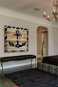 diy idea for a large nautical wall decor piece anchor With nautical wall decor