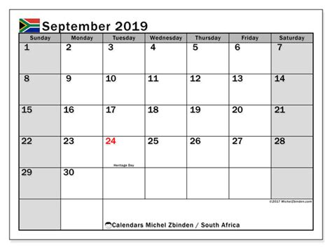 september calendar south africa michel zbinden en