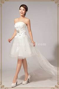strapless short mini tulle zipper lace up wedding dress With short tulle wedding dress