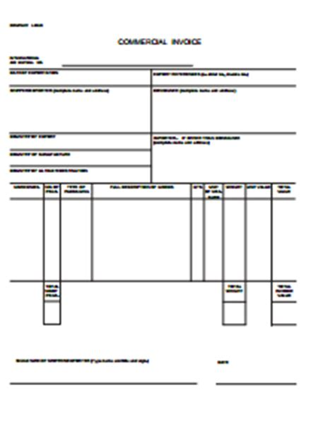commercial invoice  create edit fill