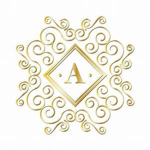 Letter a gold monogram free stock photo public domain for Gold monogram letters