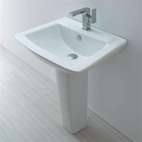 contemporary bathroom pedestal sinks europa st moritz 1th contemporary ceramic bathroom basin