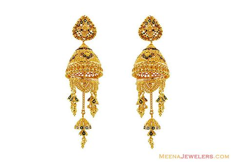 22k meenakari chandelier earrings erfc13135 22k gold