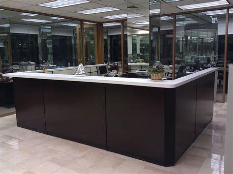 custom reception desk custom made reception desk by bailey s custom designs