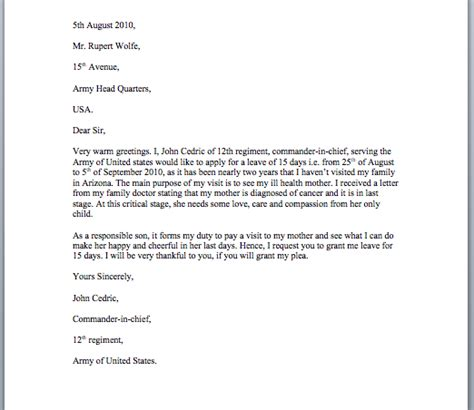 student leave application letter sample web site material