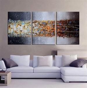 online store artland hand painted 24x48 inch 39 hazy With what kind of paint to use on kitchen cabinets for 6 piece canvas wall art