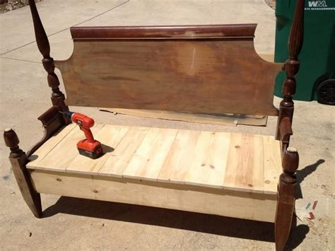 Make A Bench Out Of A Headboard And Footboard by How To Make A Bench From An Headboard Footboard