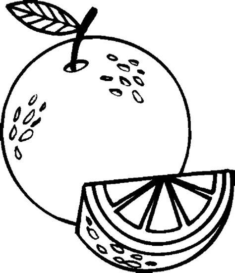 43 gambar mewarnai buah jeruk