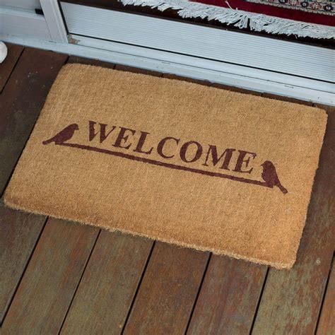 Outdoor Welcome Door Mats by Fab Door Mat 45x75 Welcome 100 4cm Coir Doormat Outdoor
