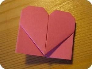 Herz Basteln Anleitung : ganz schnell und einfach kann man diese niedlichen origami ~ Lizthompson.info Haus und Dekorationen