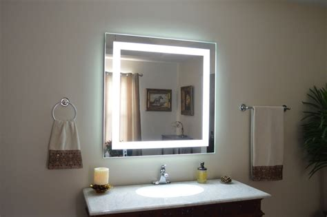 Lighted Mirror Bathroom by Lighted Bathroom Mirrors Wall Lighted Bathroom Mirror