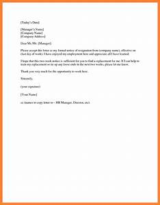 Resignation Letter 1 Day Notice Resignation Letter For A Deposition Short And Simple
