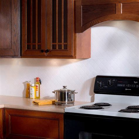 decorative backsplashes kitchens fasade 24 in x 18 in traditional 1 pvc decorative