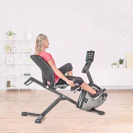velo d appartement assis e seat compatible application quot e connected quot domyos by decathlon