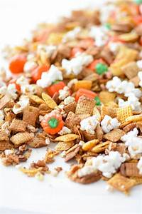 Kara's Party Ideas Easy Thanksgiving Pumpkin Chex Mix