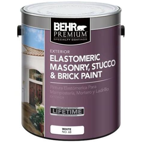 behr premium 1 gal elastomeric masonry stucco and brick paint 06801 the home depot