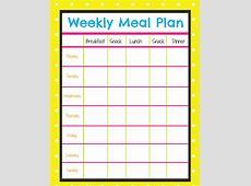 Weekly Menu Planner More Excellent Me