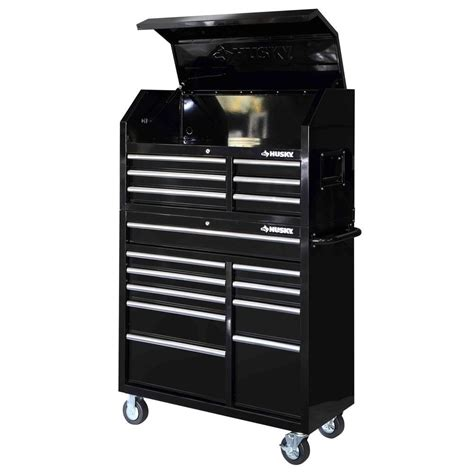 husky tool storage cabinets husky 41 in 16 drawer tool chest and rolling tool cabinet