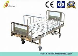 2 Crank Stainless Steel Medical Hospital Beds With Turning
