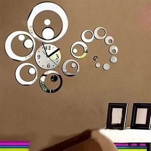 Horloge Moderne Murale : sticker murale horloge ~ Teatrodelosmanantiales.com Idées de Décoration