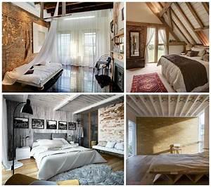 Deco Chambre Bois : poutres en bois pour la d co de la chambre coucher moderne ~ Melissatoandfro.com Idées de Décoration