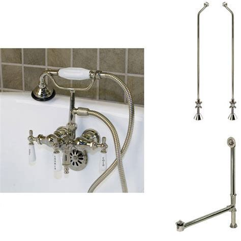 Woodrow Tub Wall Mount Faucet, Hand Shower, Supplies and