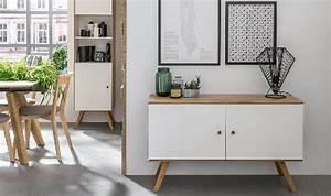 Meuble Rangement Scandinave : buffet bas design scandinave blanc et ch ne coloris porte au choix ~ Teatrodelosmanantiales.com Idées de Décoration