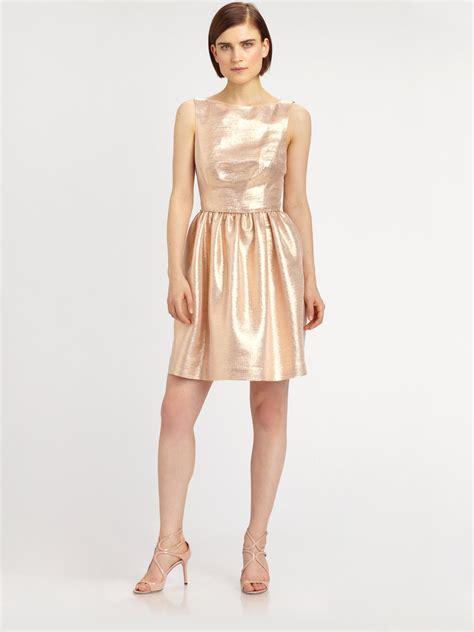 midi jumper dress lyst shoshanna tillie dress