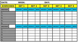 what should be recorded in my workout journal physical With bodybuilding excel template