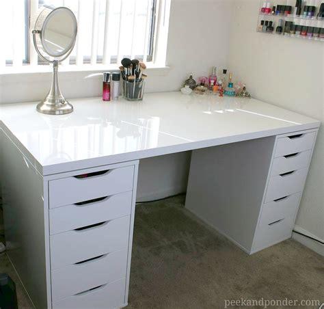 makeup storage desk ikea drawers on