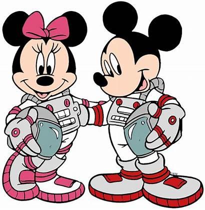 Minnie Mickey Mouse Clipart Clip Disney Astronauts