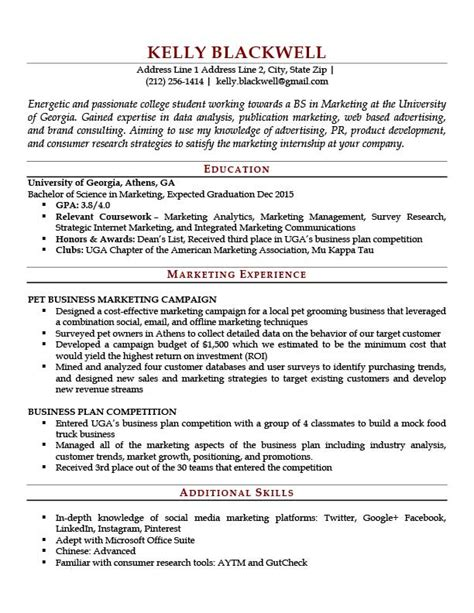 put relevant coursework resume