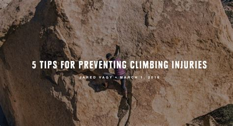Tips For Preventing Climbing Injuries Training