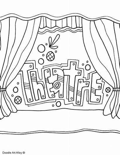 Coloring Pages Theatre Subject Arts Covers Binder