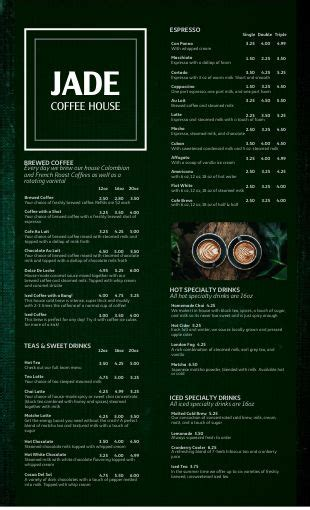 Hot coffee theme from themerex sports a charming design that will inspire, and guarantee customer satisfaction. Modern Coffee Menu | Design Templates by MustHaveMenus