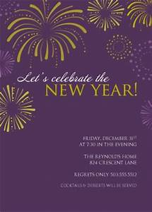 printable purple fireworks new years party invitation template With new year invite templates free