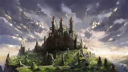 Castle Fantasy Castles Anime Background Wallpapers Landscape