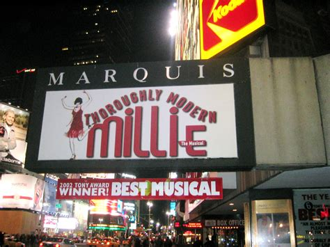 yorks marquis theater  broadway lights glitter   controversy haunts